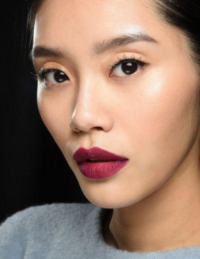 purple matte lipstick