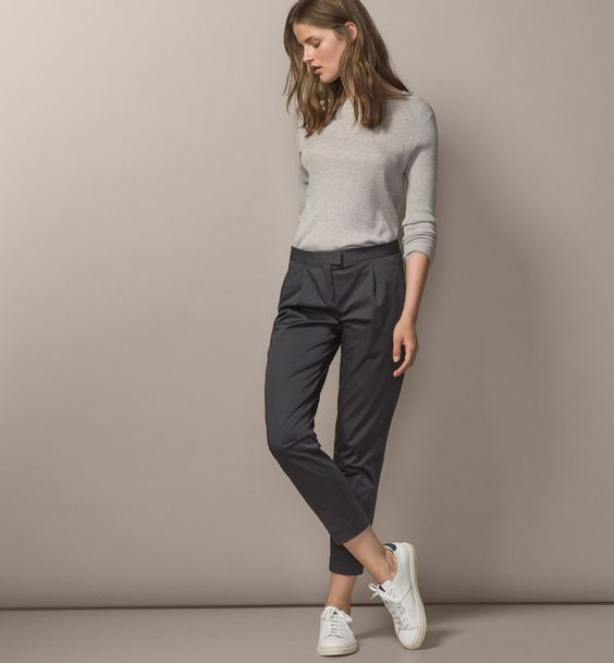 9dc1f8f65 How to Wear Grey Chinos for Women: The Style Guide - FMag.com