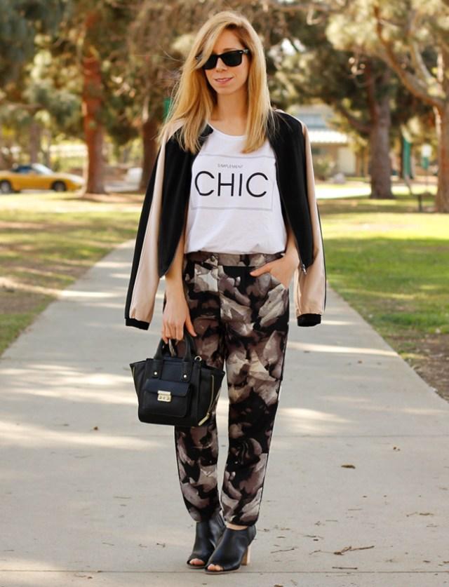 dark floral jogger pants