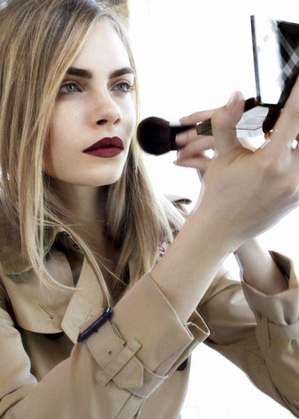 dark red matte lipstick