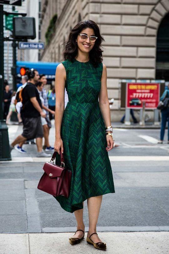 asymmetric emerald green dress