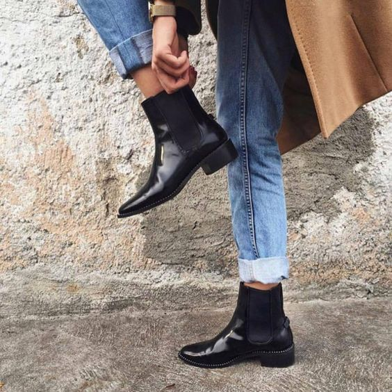 how to wear chelsea boots for women best style guide. Black Bedroom Furniture Sets. Home Design Ideas