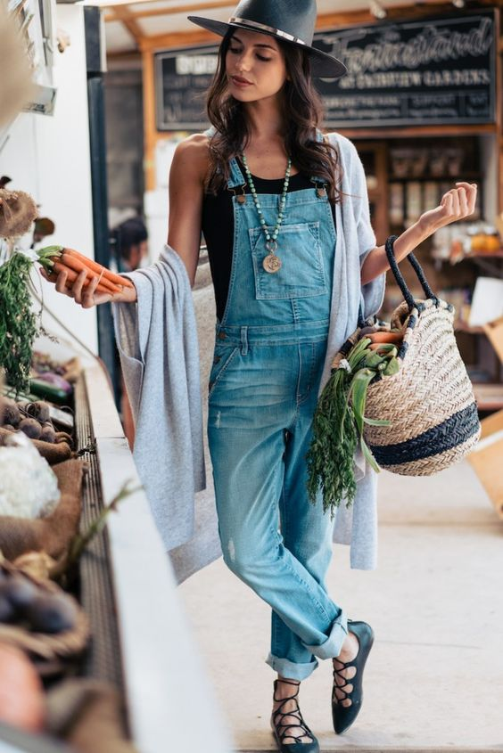 lace up flats overalls