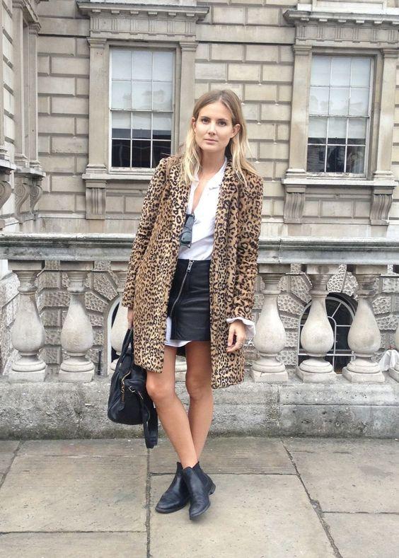 leopard coat chelsea boots
