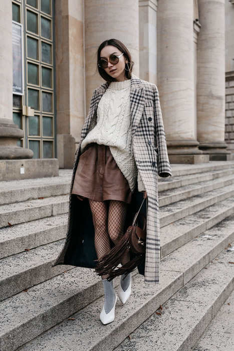 long coat cable knit sweater