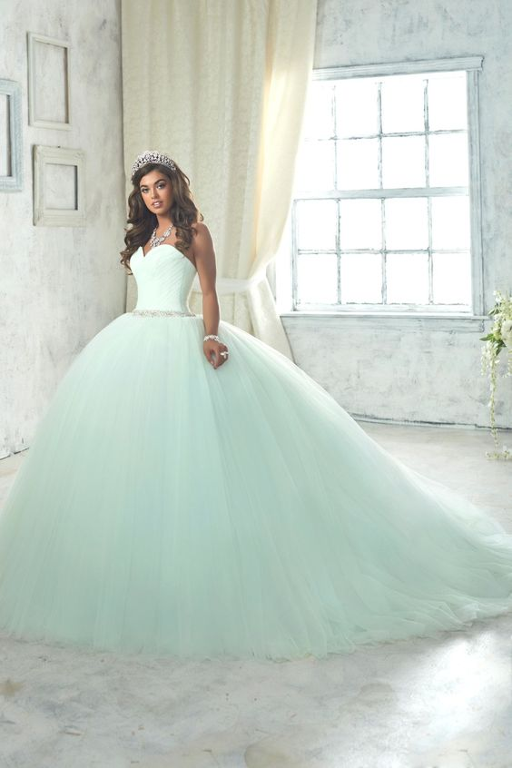 mint quinceanera dress princess