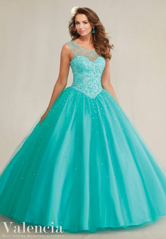 mint qiunceanera dress sequins