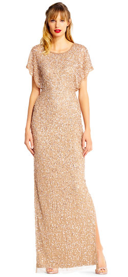 sequins mother of the bride dress