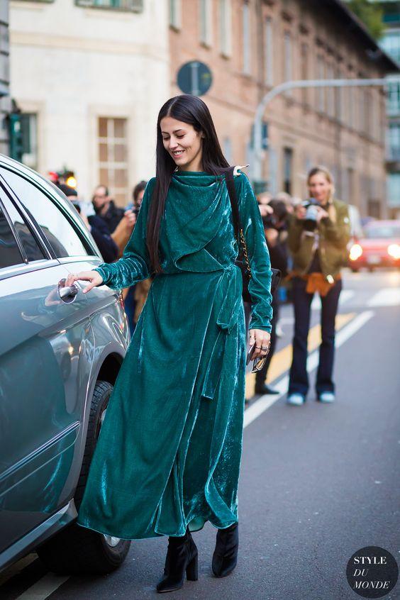 velvet emerald green dress