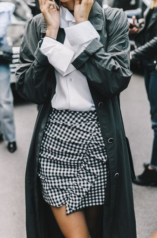 trench coat gingham