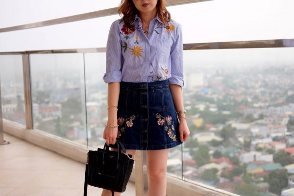 best embroidered skirt outfits