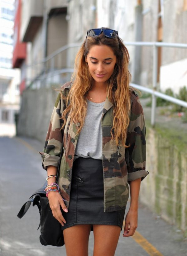best camo jacket outfit ideas