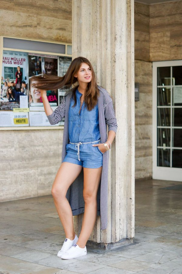 b054f9d673b How to Wear Denim Romper  15 Amazing Outfit Ideas - FMag.com