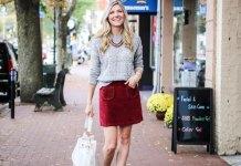 best velvet skirt outfit ideas