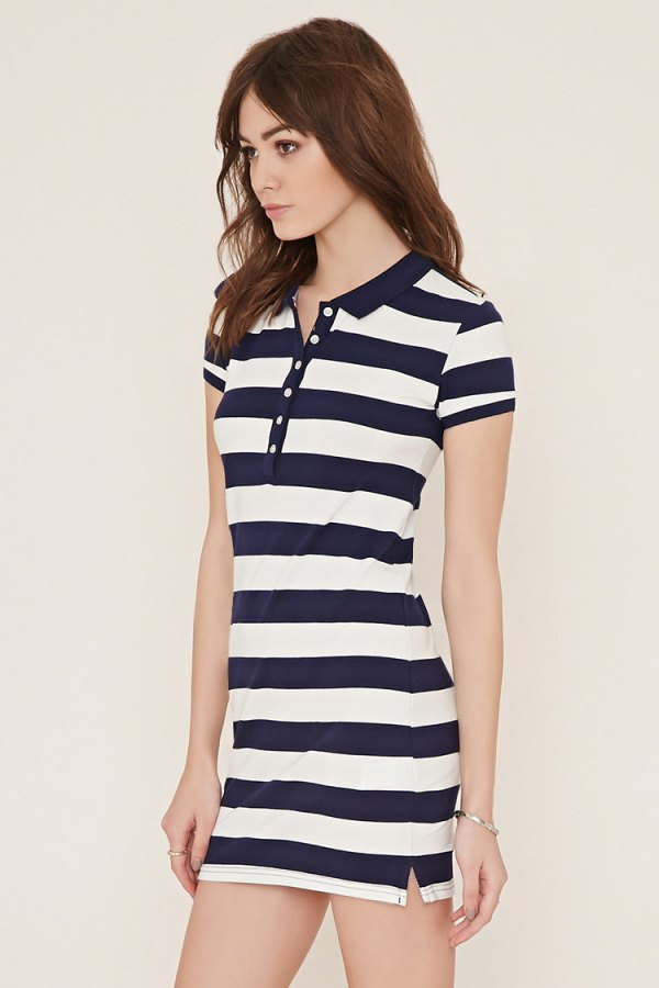 a013375ea58 14 Best Outfit Ideas on How to Wear Polo Shirt Dress - FMag.com