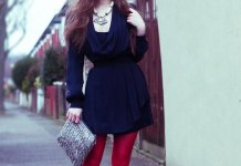 best red leggings outfits