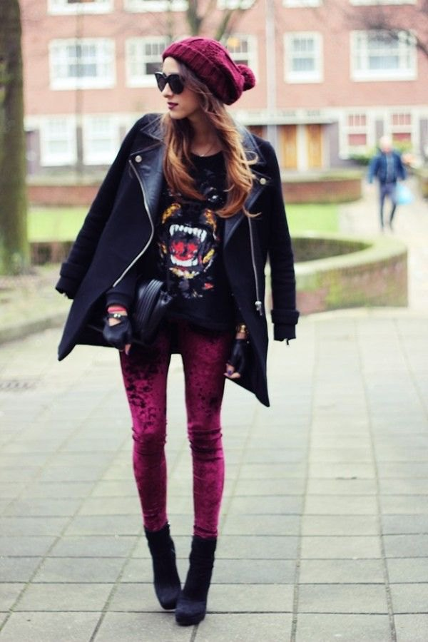 best velvet leggings outfit ideas