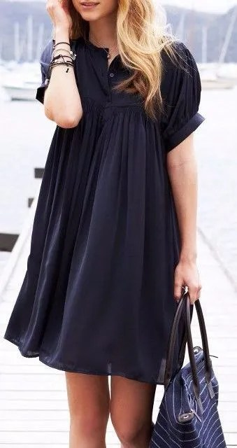 black baby doll dress chiffon
