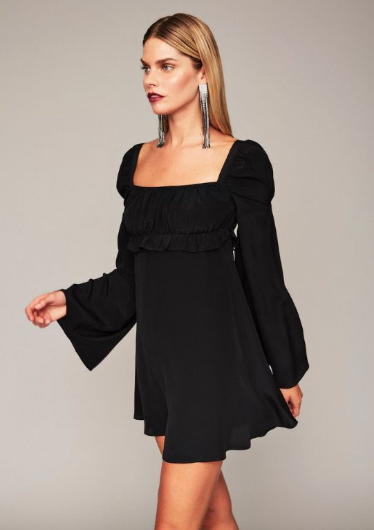 black baby doll dress elegant