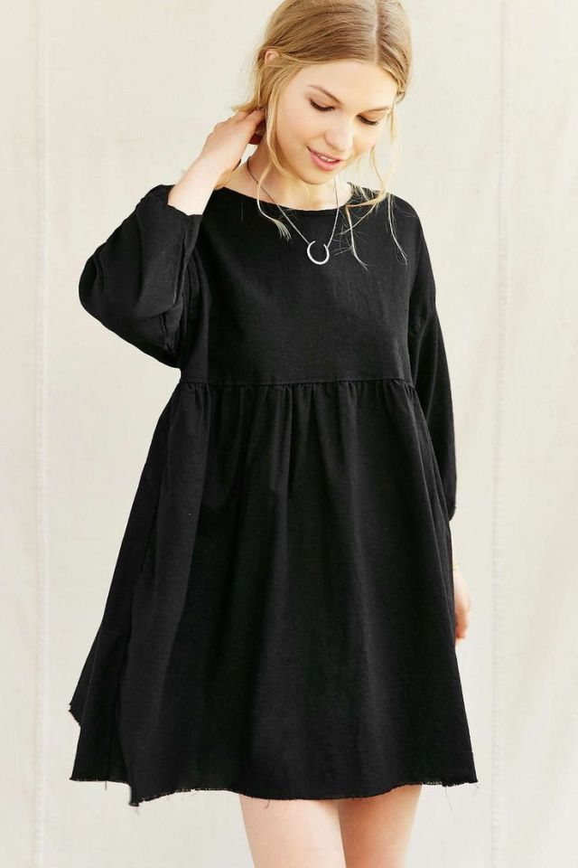 black baby doll dress simple