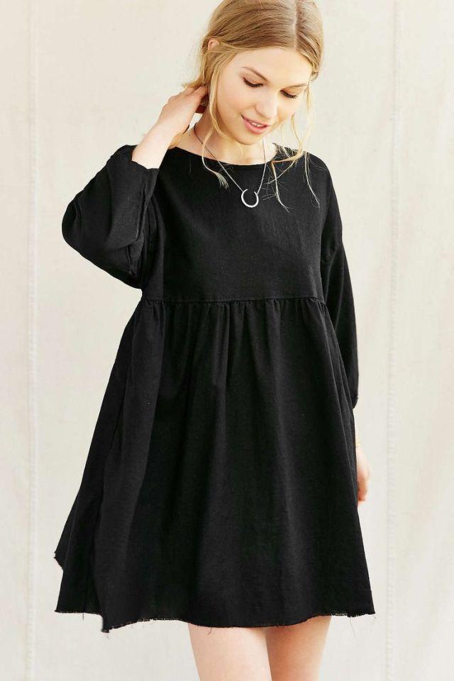 black baby doll dress simple