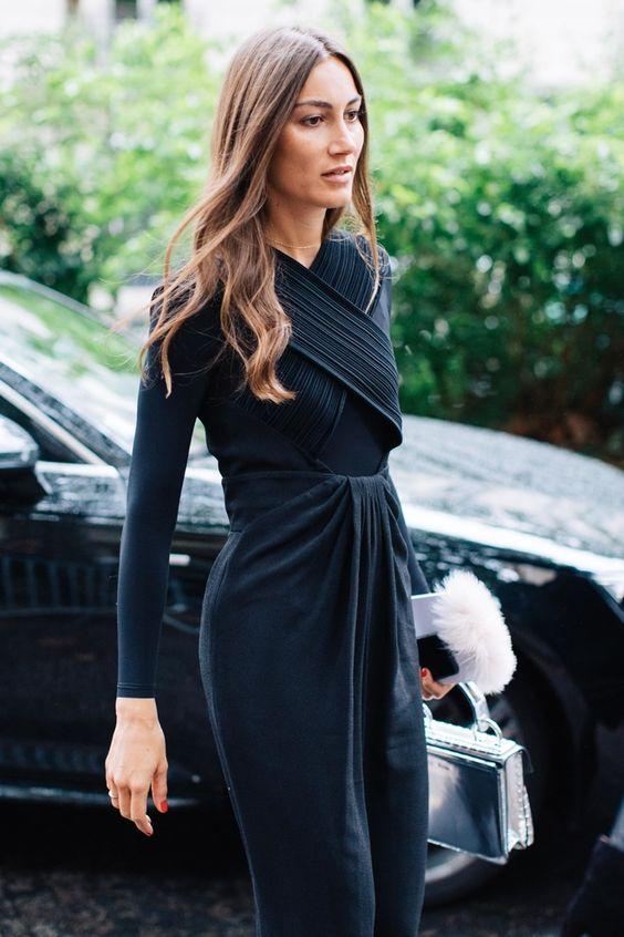 black chiffon dress cotton combination
