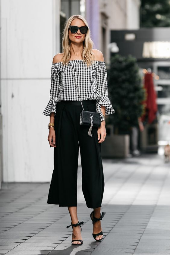blackculottes gingham top