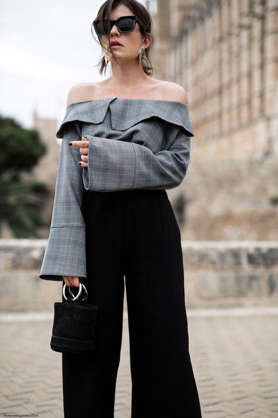 black culottes plaid