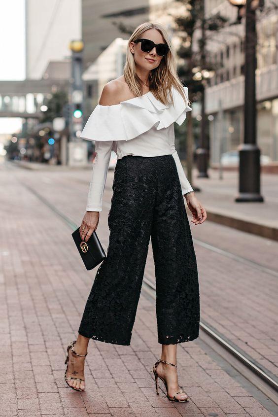 black culottes sequins