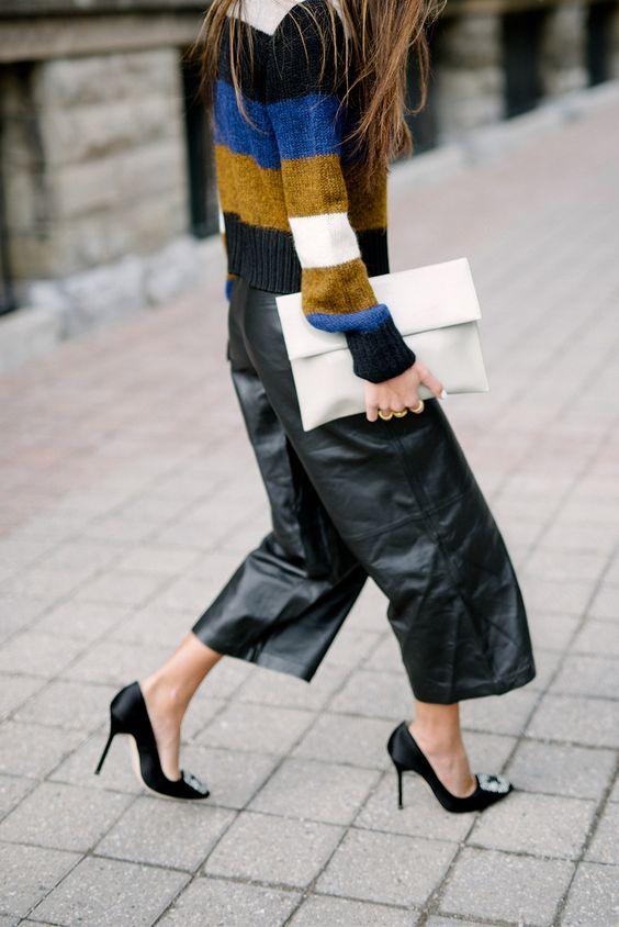 black-culottes striped