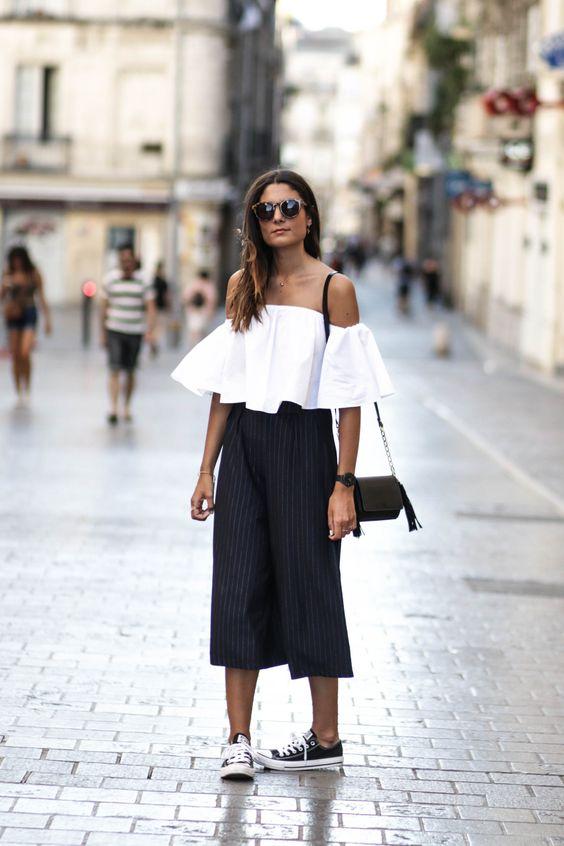 black culottes summer look