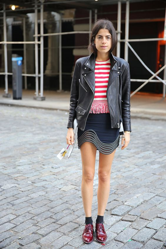 black leather moto jacket leandra