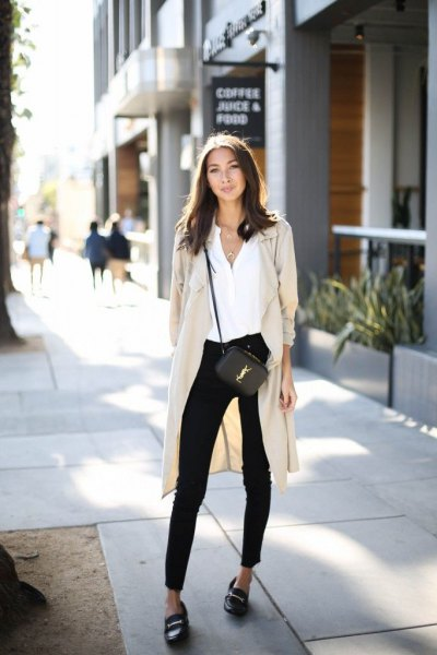 black loafers long cardigan outfits