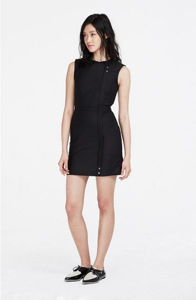 black oxford shoes dress outfit