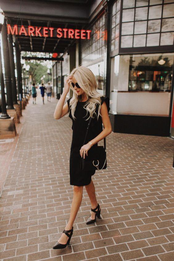 black ruffle dress basic staple