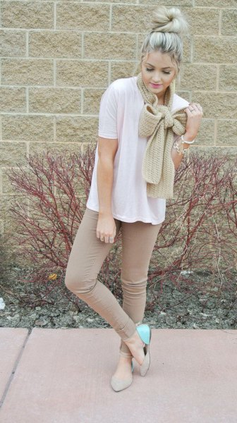 diy knit bow scarf ouffit