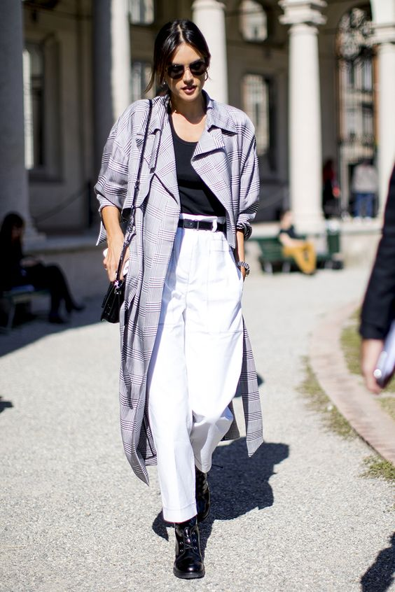 duster jacket plaid lilac