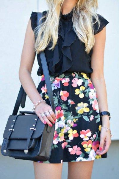 high waisted floral pencil skirt