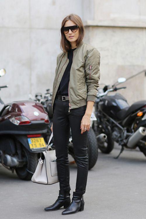khaki jacket parisienne