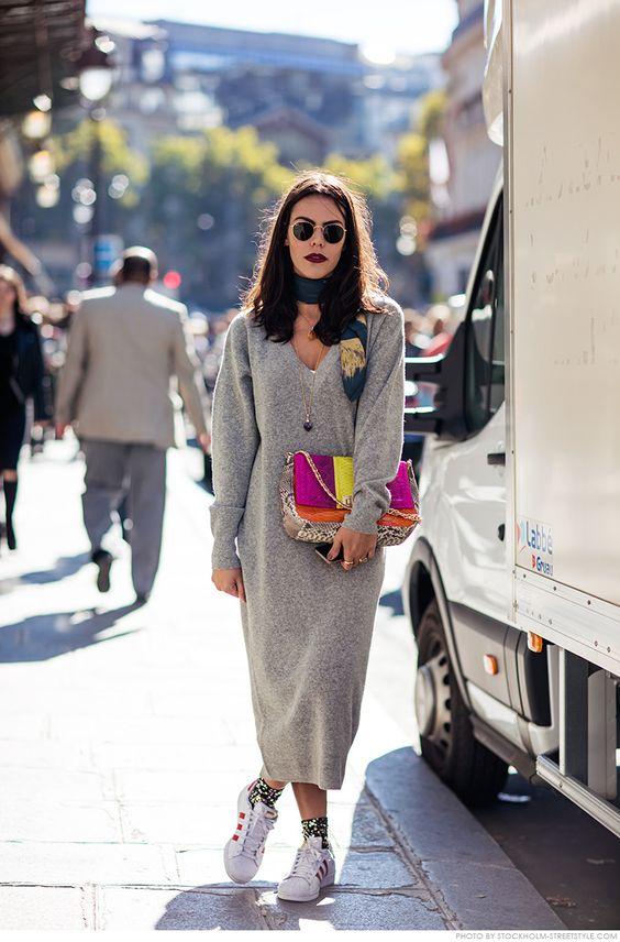 knit sweater dress bag