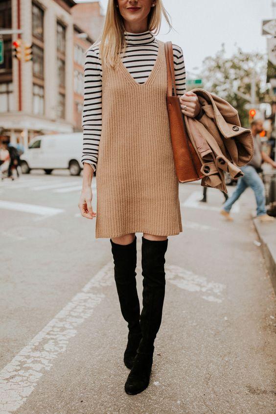knit sweater dress pinafore