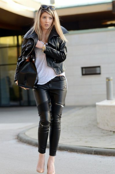 How to Wear Leather on Leather for Women Outfit Ideas - FMag.com