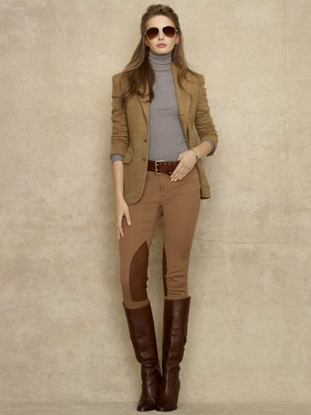 matching blazer and riding pants