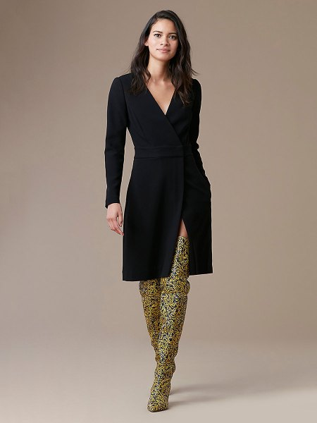 printed thigh high boots outfit