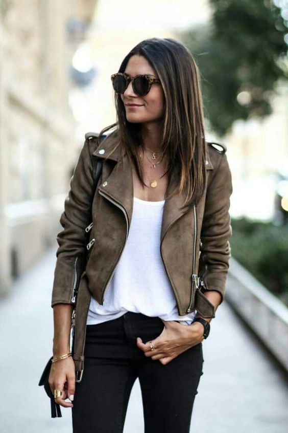 short jacket suede