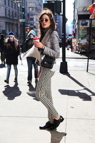 striped tweed jacket check pattern dress pants