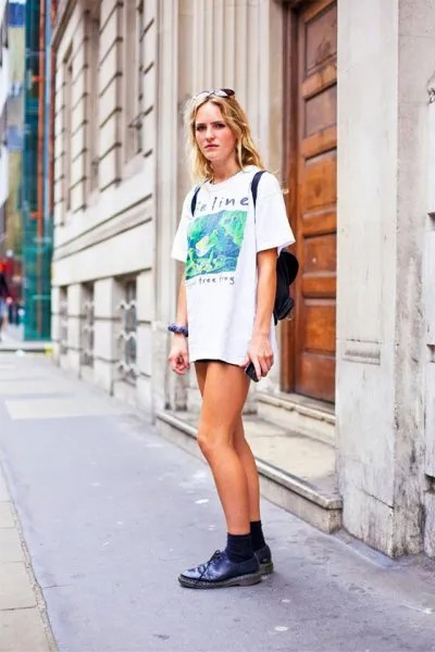 t shirt dress denim shorts outfit ideas
