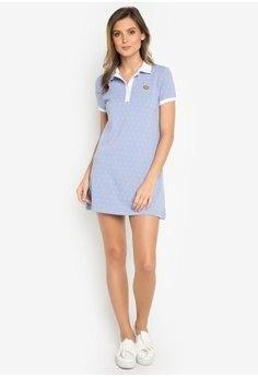 tiffany blue polo shirt dress outfit
