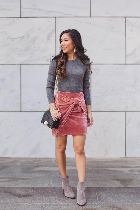 velet skirt pink bow