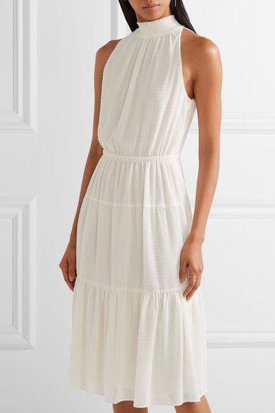 white chiffon dress halter neckline